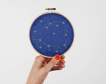 Little & Big Dipper Constellation Embroidery Kit