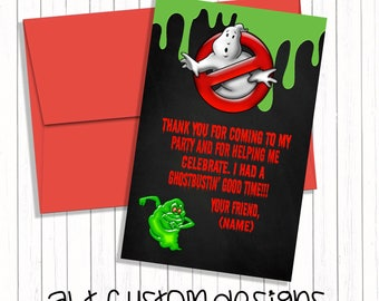Ghostbuster Thank you cards