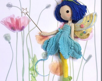 English: Crochet Doll Pattern-Fairy Iris 花仙子 艾丽
