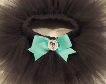Vanellope Von Schweetz, Wreck it Ralph Inspired costume tutu-Chocolate Brown or Brown/aqua
