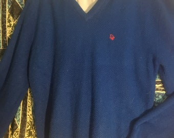 Electric Royal Blue /Long Sleeved Sweater /by Christian Dior/Size M