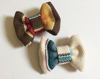 Serape Bowtie, Clip-on tie, Toddler, Mexican Blanket