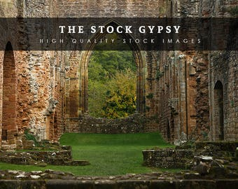 Abbey Ruins - Stock Image
