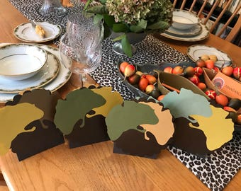 Paper Leaves Thanksgiving Place Cards