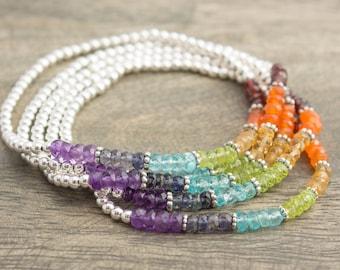Sterling Silver Chakra bracelet