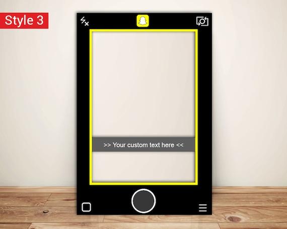 Snapchat Frame Custom Designed Photo Booth Prop Digital File