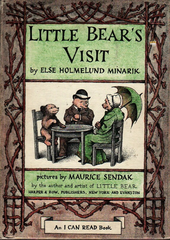 Little Bear's Visit An I Can Read Book + Else Holmelund Minarik + Maurice Sendak + 1961 + Vintage Kids Book