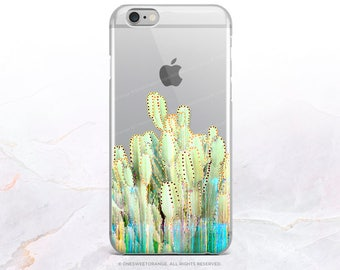iPhone 8 Case iPhone X Case iPhone 7 Case Trippy Cacti Clear GRIP Rubber Case iPhone 7 Plus Clear Case iPhone SE Case Samsung S8 Case U263