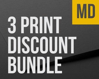 Choose any 3 MEDIUM prints as a bundle