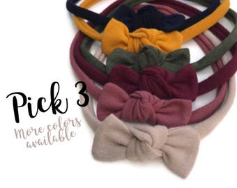 Knot bow headbands - Baby knot headbands - Fabric knot bows - Soft knot bows baby - newborn knot bows - baby knot headband - baby knot bows
