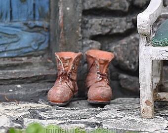 Old Boots for Miniature Garden, Fairy Garden