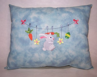 Pillow - Bunny on the line