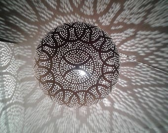 Atmosphere in copper luster handmade - oriental chandelier - copper FES - Morocco.