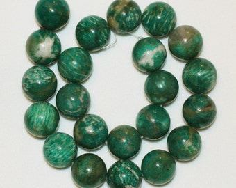 "Natural Russian Amazonite 15-1/4"" strand of 22 count 18mm round beads."