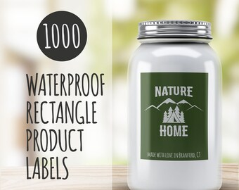 Custom Stickers Logo,  1000 Custom Vinyl Rectangle Stickers - Waterproof, custom signs, custom logo stickers, vinyl stickers, waterproof