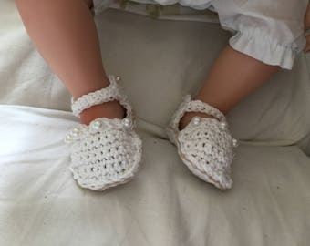 Beaded baby shoes, cotton shoes, Handmade Baby shoes, Crochet baby shoes, Baby Girl Gifts, Gift for Baby, baby shower, unique baby girl gift