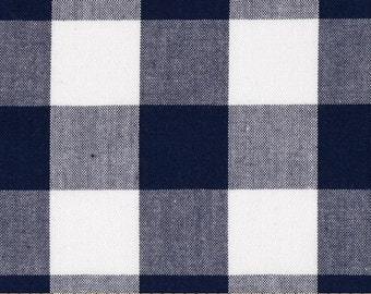 Kaufman 1 inch  Carolina Gingham Navy