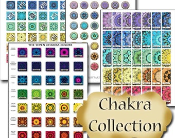 4 pk CHAKRA Collage Sheet Collection