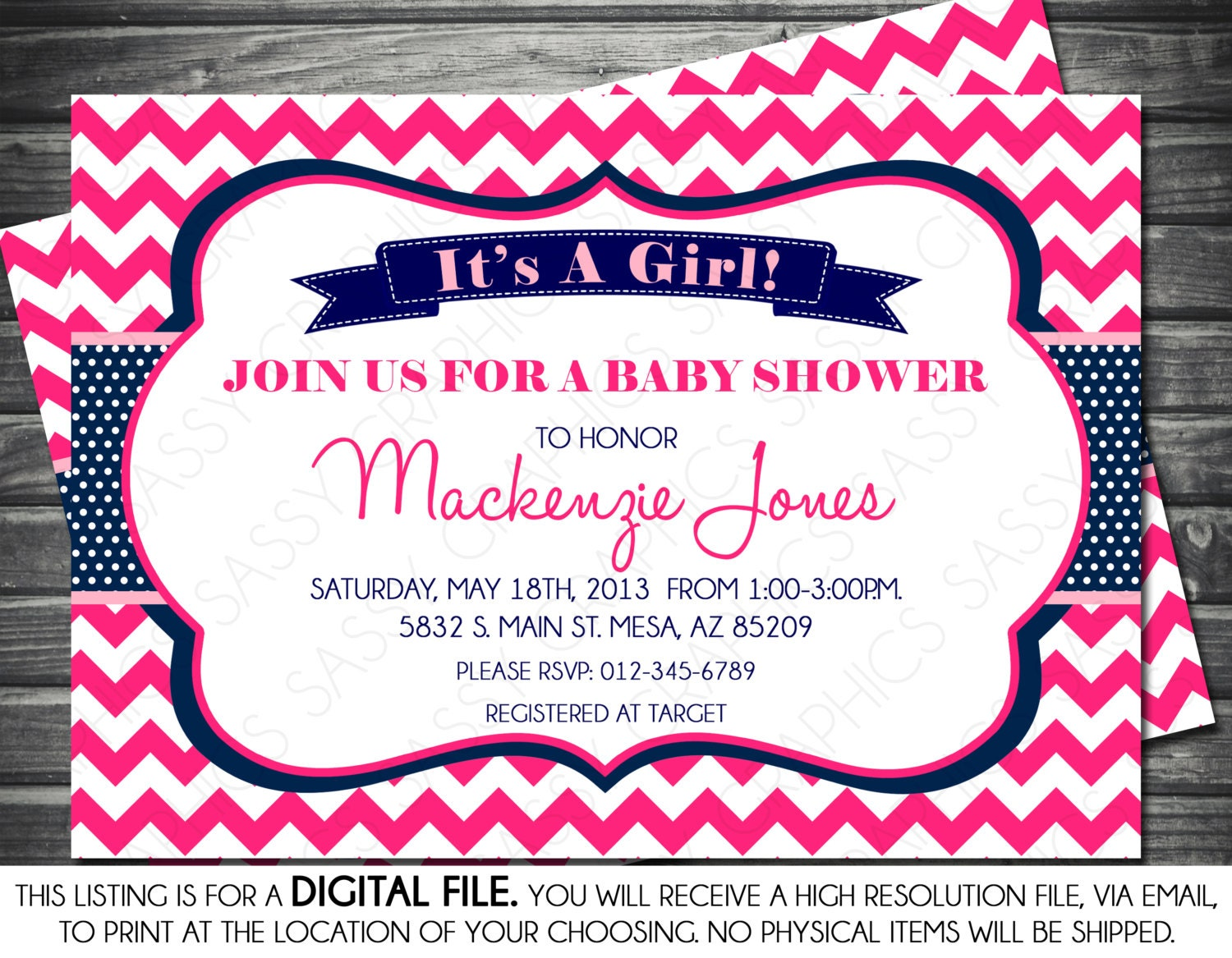 Comfortable Navy Blue Baby Shower Invitations Images - Invitation ...