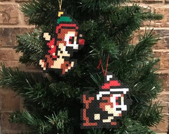 Chip and Dale Perler Bead Ornaments
