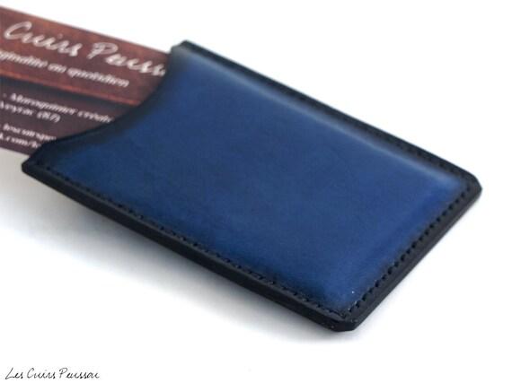 Porte cartes de visite en cuir cuir premium porte carte - Porte carte de visite cuir ...