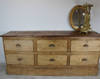 Factory Sideboard (6) Drawer Unit