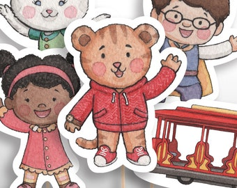 INSTANT DOWNLOAD Extra-Large Daniel Tiger Centerpieces or Cake Toppers, Daniel Tiger's Neighborhood Birthday Party Decorations PRINTABLE pdf