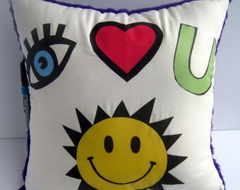 I Love You Autograph Pillow