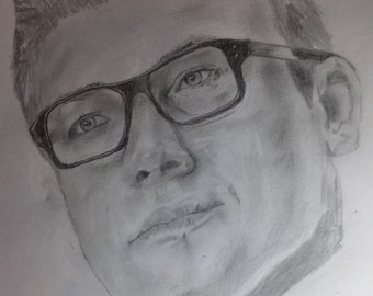 EGGSY from Kingsman *Pencil Sketch* (Head and Neck)