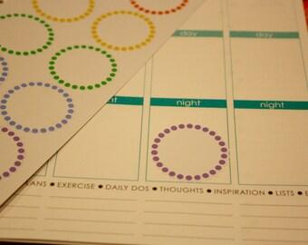Rainbow Polka-Dot Circles