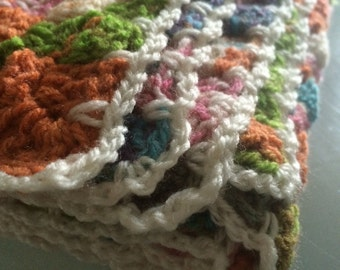handmade, one of a kind, ooak, quirky, unique, colourful, crochet, baby blanket, babygift, babyshower