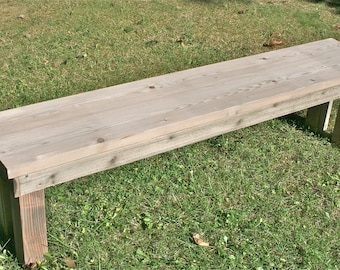 Rustic Wood Bench  - Weathered - Mudroom, Dining Bench, Farmhouse Bench, Rustic Bench