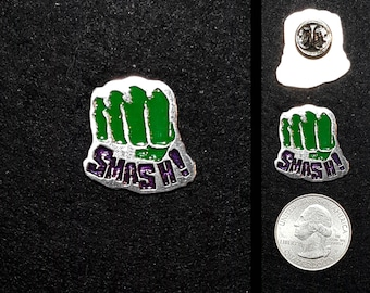 Smash Pewter Lapel Pin or Magnet