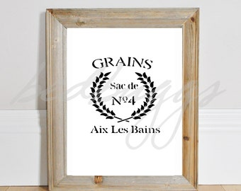 Grains French Country Stamp svg   Farmhouse svg   Farmers market svg   Kitchen Farmhouse pdf  SVG   png   JPG   cut file