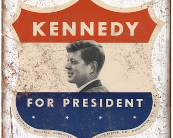 """Kennedy Democratic National Committee Flyer 10""""X7"""" Reproduction Metal Sign ZC12"""