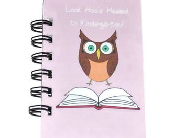 Owl Spiral Bound Notebook-Total of 12 Notebooks.  Owl Birthday Party Favors, Graduation Notebook Gifts