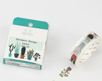 Succulent - Washi - Tape - Plants - Cactus