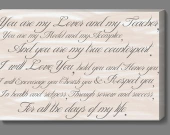 Vows Digital Download, Wedding Vows, Digital Download, Wedding Gift, Anniversary Gift,