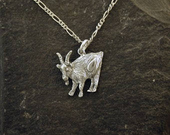 Sterling Silver Billy Goat Pendant on a Sterling Silver Chain.