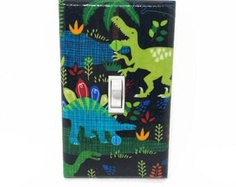 Dinosaur Light Switch Cover - Dinosaur Bedroom Switch Plate - Boys Dinosaur Decor