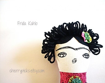 Frida Kahlo Doll, Mexican Doll, Frida Kahlo, Mexican Rag Doll, Handmade Doll, Frida Doll, Mexican Art Doll, Mexican Folk Art, Mexican Kitsch