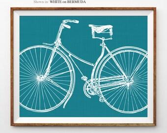 Coral Bike Poster Bicycle Wall Art Bike Art Bicycle Decor Bike Print Cyclist Christmas Gift For Cyclist Vintage Bicycle Art Print Wall Art