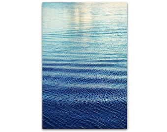 large beach photography // ocean water // beach art -  Harbor, large photography print