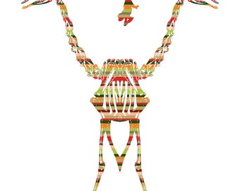 Mirrored Giraffe