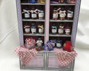Dolls House Miniatures - Double Sweet Shelf