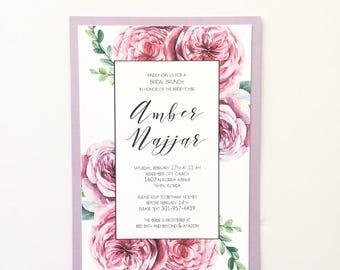 Custom Made Bridal Shower Invitation