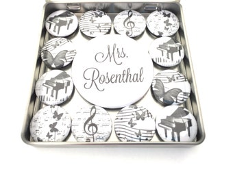 Personalized Music Magnet Set, music lover gift, music gift