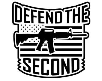 Defend the Second Amendment Vinyl Decal