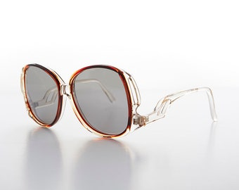 Polarized Women's Oversized Bohemian Sunglass with Upside Down Temple - Muse