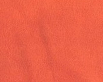 Anti Pill Polar Solid Color Fleece Fabric by the yard- Orange